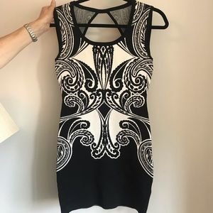 Guess Black and White Stretch Dress